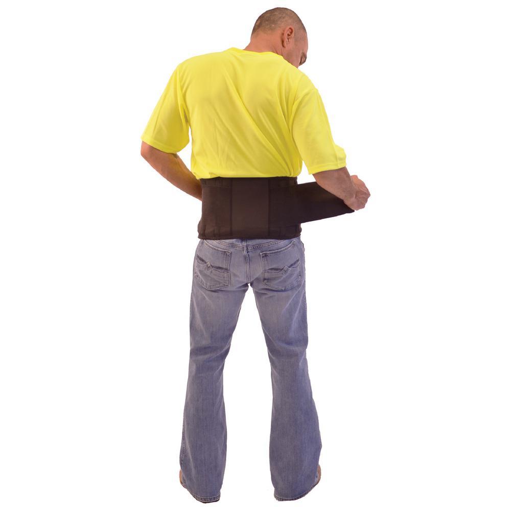 Extra-Large Economy Black Nylon Back Support with Suspenders