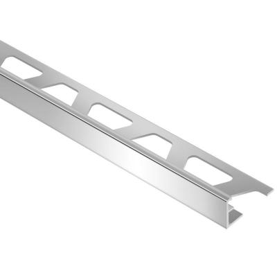 Jolly Polished Chrome Anodized Aluminum 3/8 in. x 8 ft. 2-1/2 in. Metal Tile Edging Trim