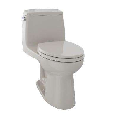 Ultimate 1-Piece 1.6 GPF Single Flush Elongated Toilet in Bone