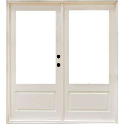 72 x 80 french patio door patio doors exterior doors the 72 in x 80 in fiberglass smooth white left hand outswing hinged 3 planetlyrics Gallery