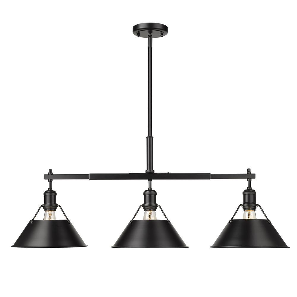 Orwell 3-Light Matte Black Linear Pendant
