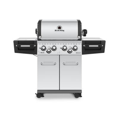 Regal S490 PRO 4-Burner Propane Gas Grill in Stainless Steel with Side Burner and Rear Rotisserie Burner
