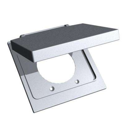 2 Gang 2.25 in. Device Mount Cover - Silver (Case of 4)