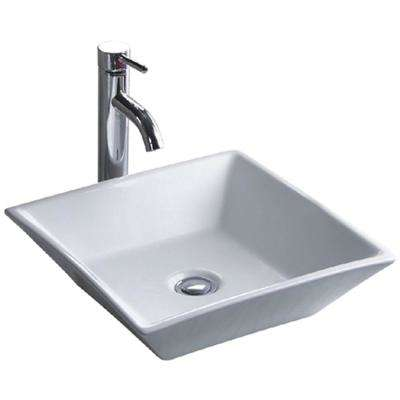 China Luxe Series Vitreous Ceramic Vessel Sink in white