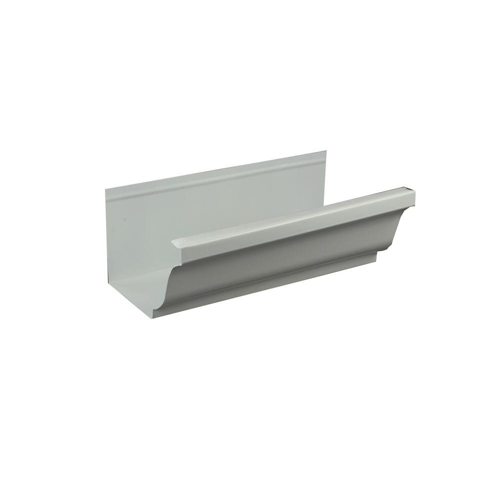 5 in. x 8 ft. K-Style High Gloss White Aluminum Gutter