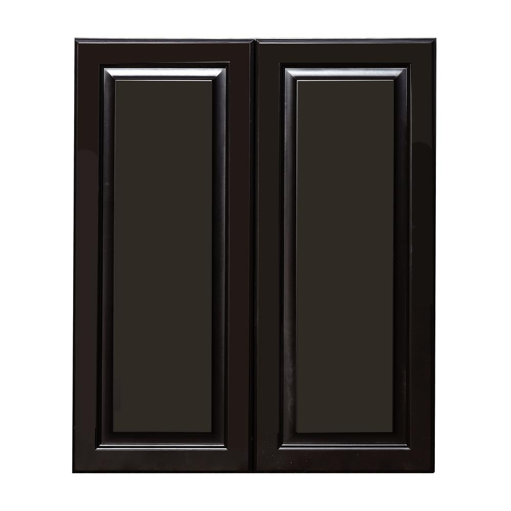 La. Newport Assembled 24x36x12 in. 2-Door Wall Cabinet with 2-Shelves in