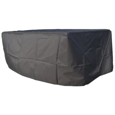 Outdoor 80 in. x 30 in. x 16 in. Black Chaise Lounge Chair Cover