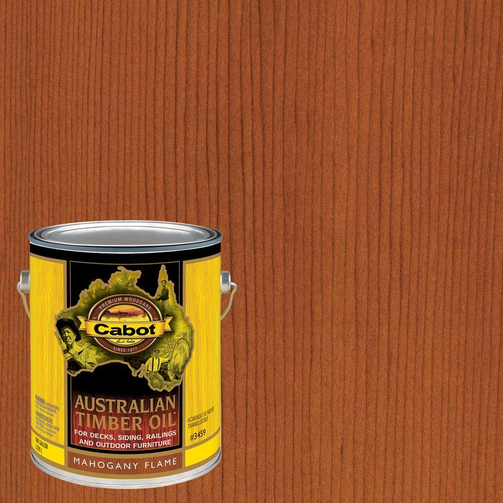 1 gal. Mahogany Flame Australian Timber Oil Exterior Wood Finish
