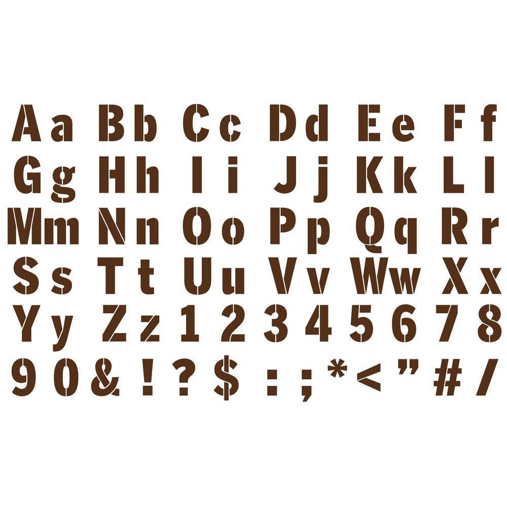 Martha Stewart Crafts Sans Serif Alphabet Paper Stencils