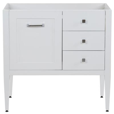 Hensley 36 in. W x 22 in. D Bath Vanity Cabinet Only in White