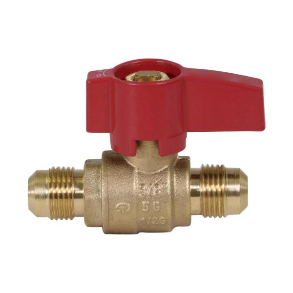 1/2 in. Flare x 1/2 in. Flare Brass Gas Ball Valve
