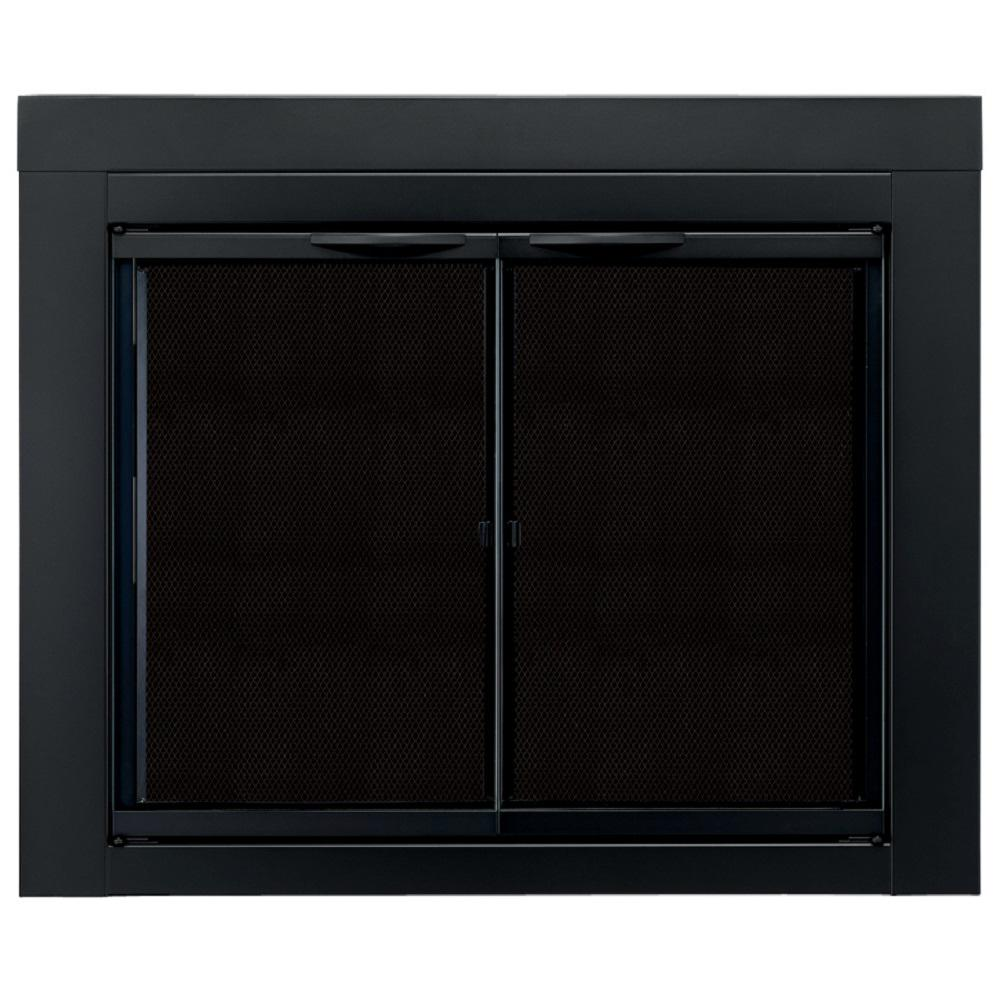 Pleasant Hearth Alpine Large Glass Fireplace Doors An 1012 The