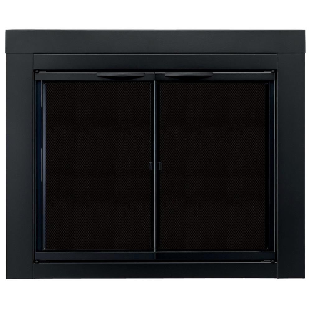 Pleasant Hearth Alpine Medium Glass Fireplace Doors An 1011 The