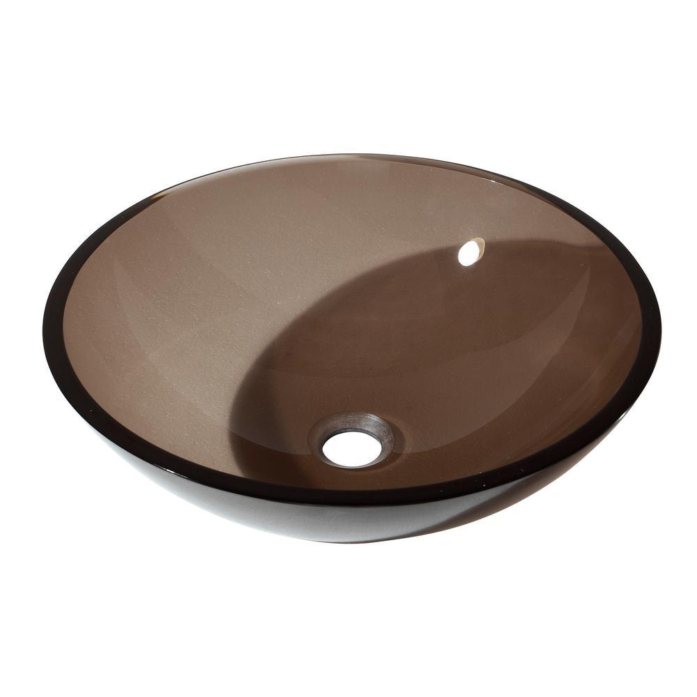Fuji Half Moon Vanity Sink in Brown Old Walnut (2-Box)