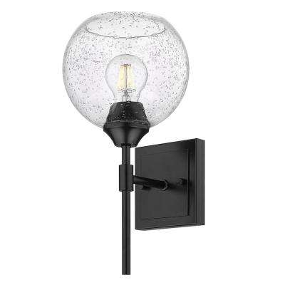Ormond 4.375 in. 1-Light Matte Black Vanity Light