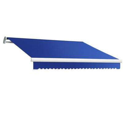 18 ft. Maui-LX Right Motor Retractable Acrylic Awning with Remote (120 in. Projection) in Blue