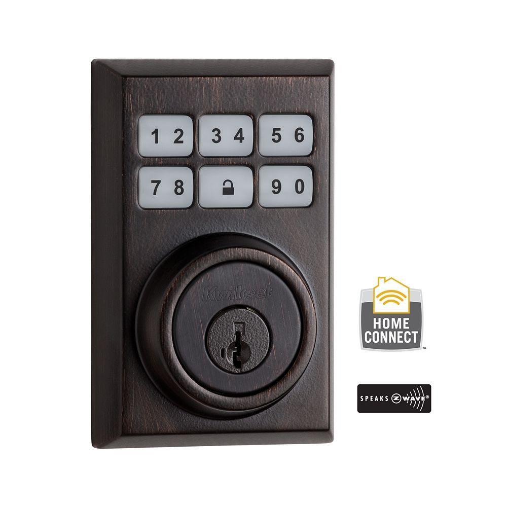 Kwikset Z Wave Smartcode 910 Contemporary Venetian Bronze