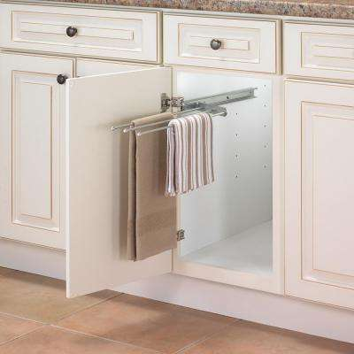 1.31 in. x 4.81 in. x 17.75 in. Pull Out Steel Towel Bar