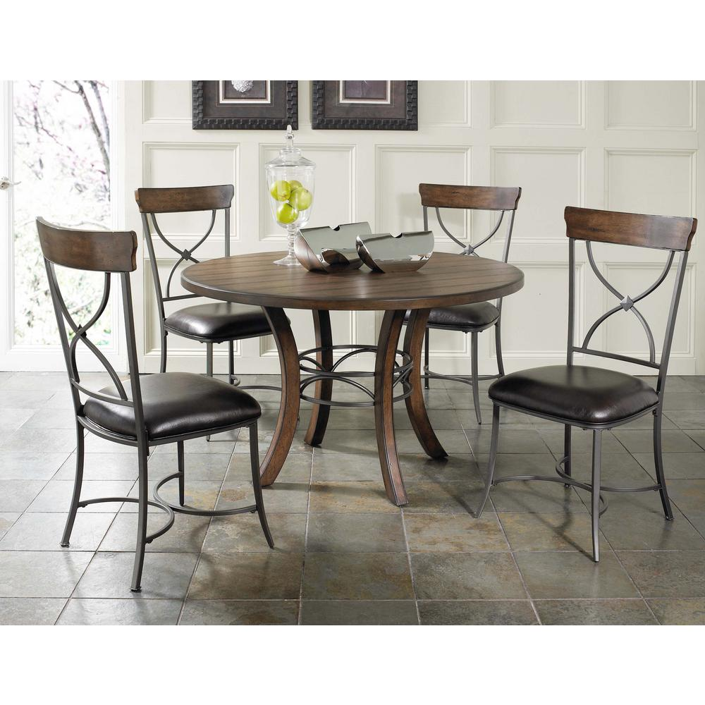 Hillsdale furniture cameron dark grey metal x back dining chair