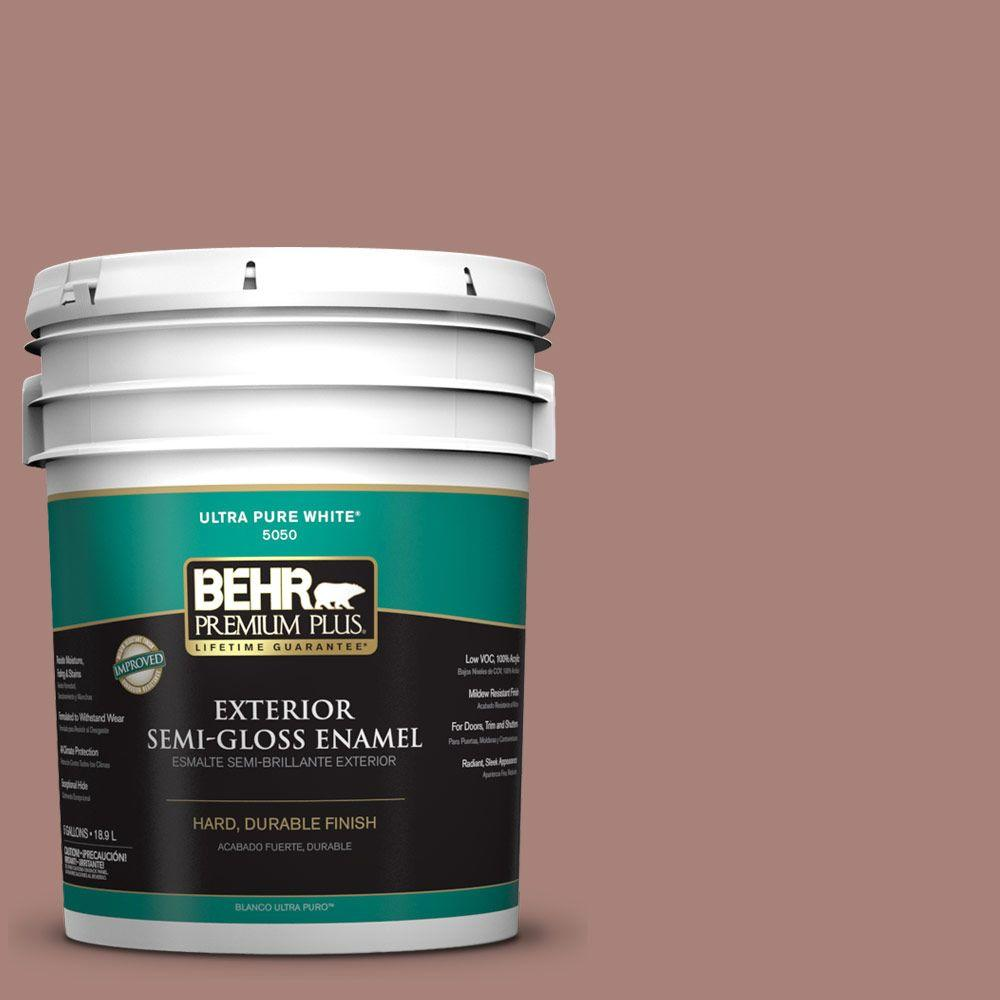 BEHR Premium Plus Home Decorators Collection 5-gal. #HDC-NT-07 Hickory Branch Semi-Gloss Enamel Exterior Paint