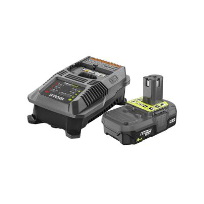 RYOBI 18-Volt ONE+ Lithium-Ion 2.0 Ah Battery and Dual Chemistry IntelliPort Charger Kit