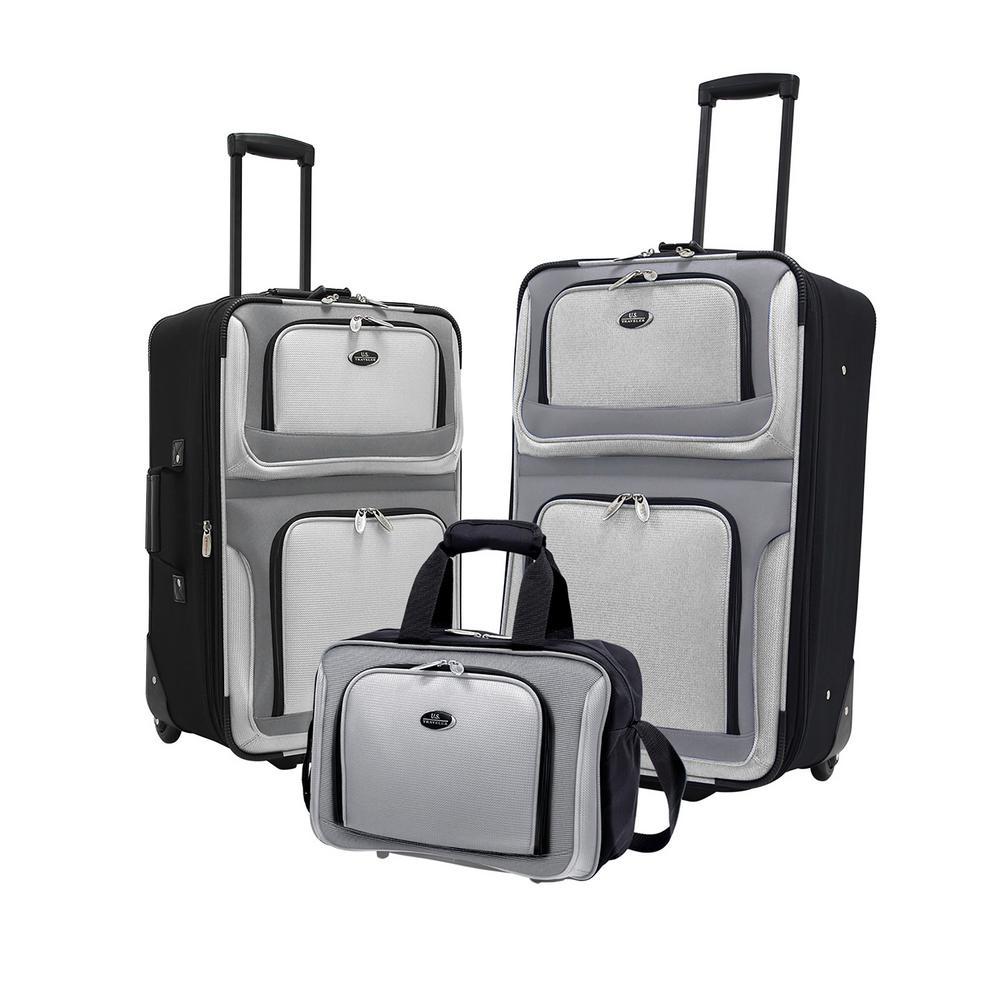 New Yorker Gray Luggage Set (3-Piece)