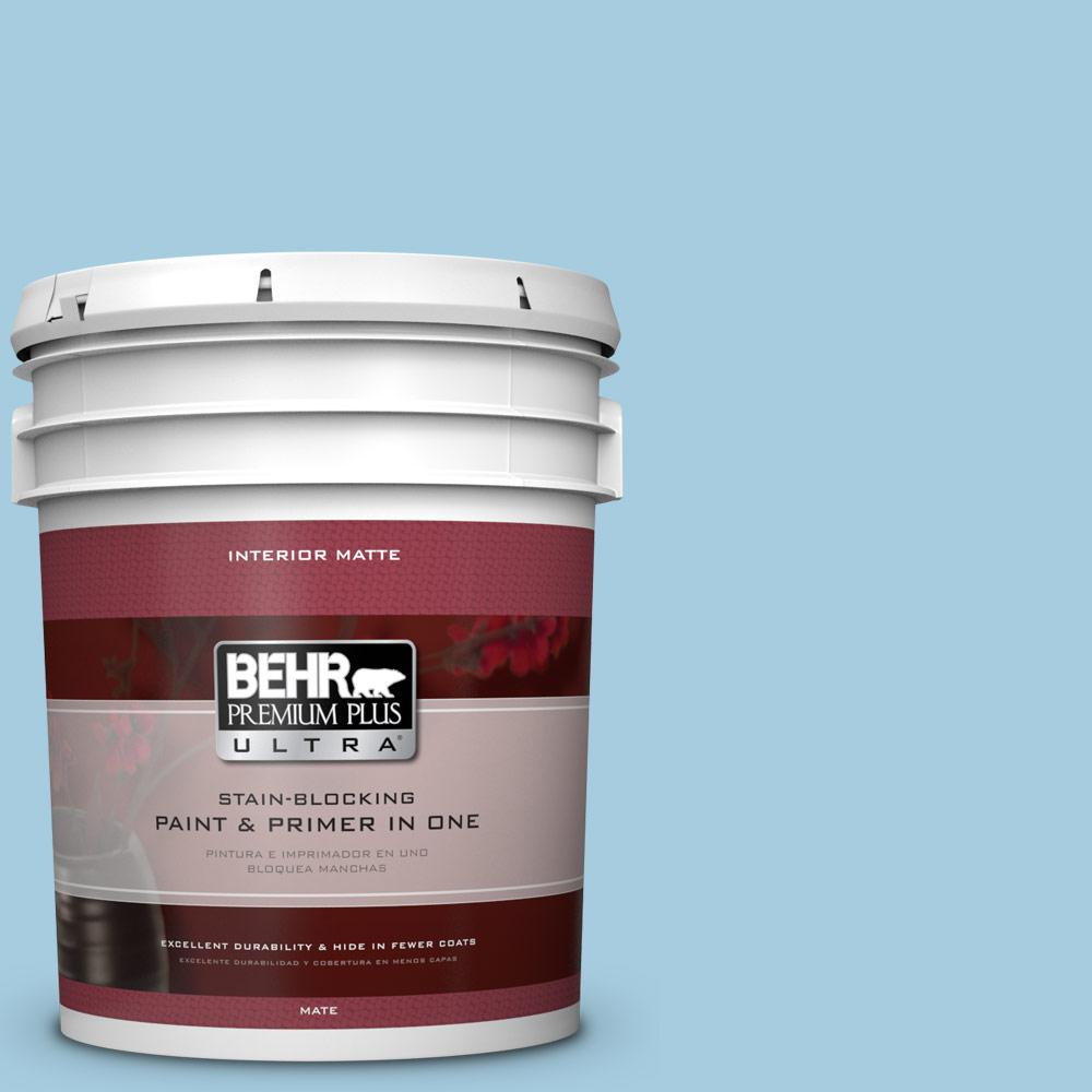 5 gal. #M490-2 Carefree Sky Matte Interior Paint