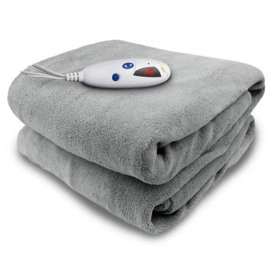 4460 Series Grey 50 in. x 62 in. Micro Plush Heated Throw