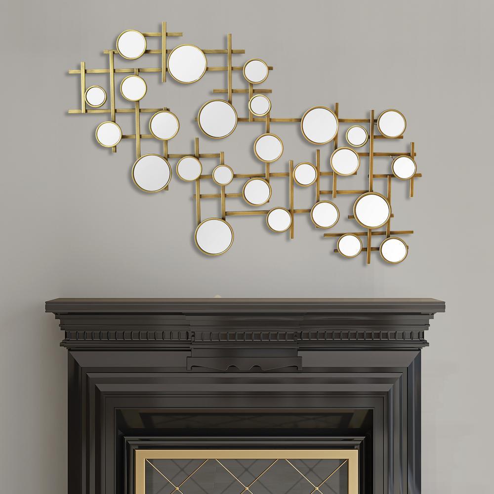 Stratton Home Decor Elegant Mirror Cluster Metal Wall
