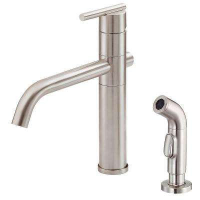 Parma Single-Handle Side Sprayer Kitchen Faucet in Stainless Steel