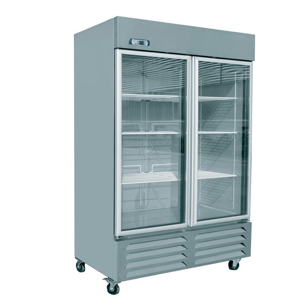 EQ Kitchen Line 21.1 cu. ft. 48.4x30.4x78.8 in. 2 Glass-Door ...