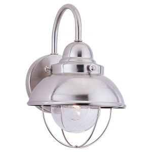 Sebring 1 Light Brushed Stainless Outdoor Wall Fixture