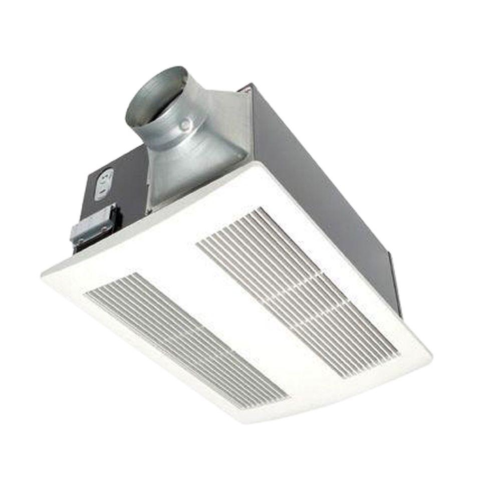 Panasonic Whisperwarm 110 Cfm Ceiling Exhaust Bath Fan With Heater Fv 11vh2 The Home Depot