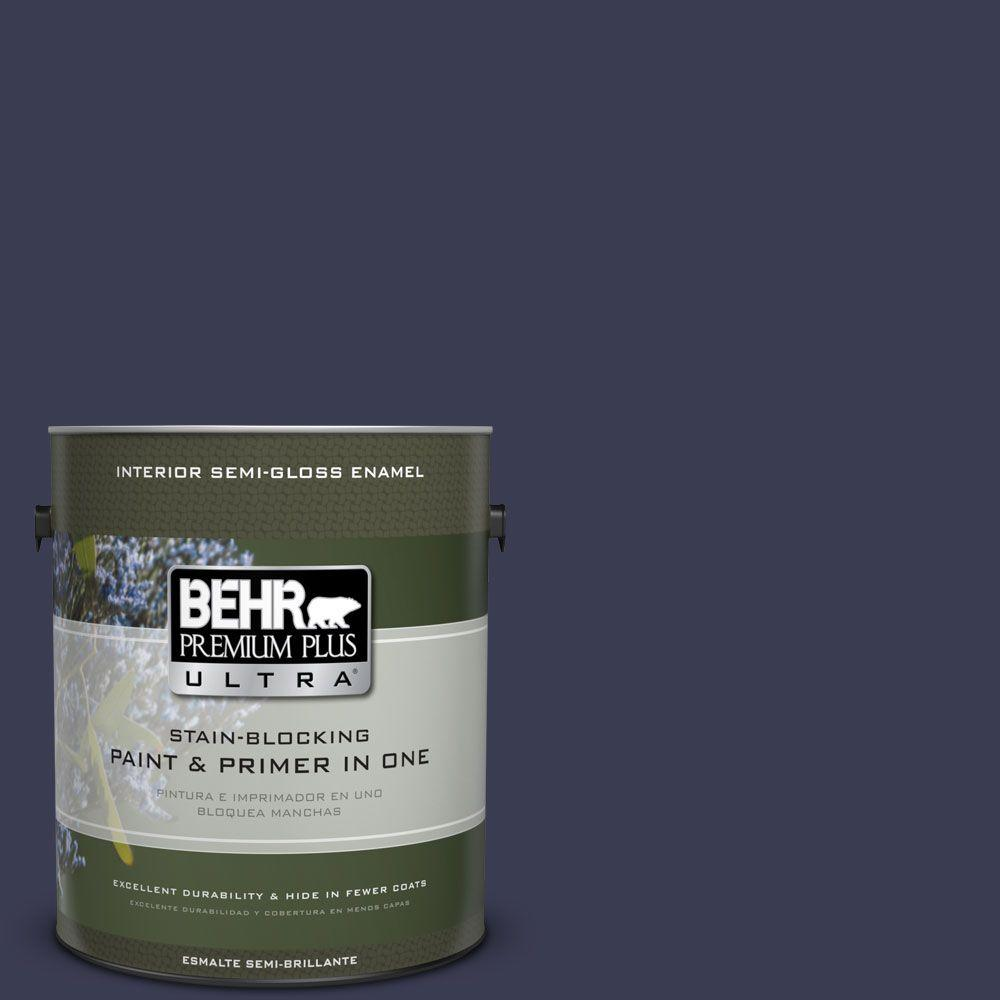 1 gal. #HDC-WR16-03 Blueberry Tart Semi-Gloss Enamel Interior Paint