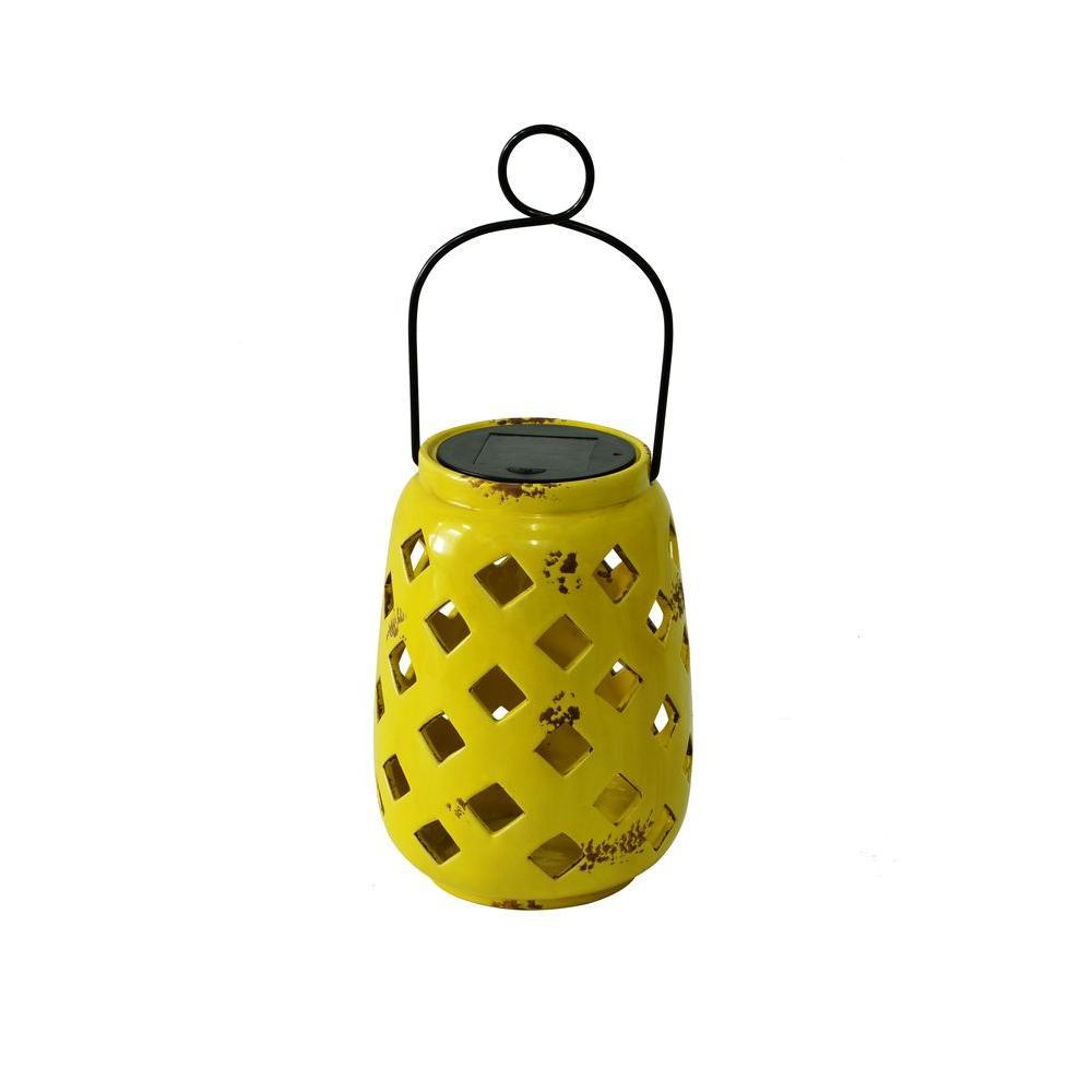 Hampton Bay Solar Ceramic Lantern