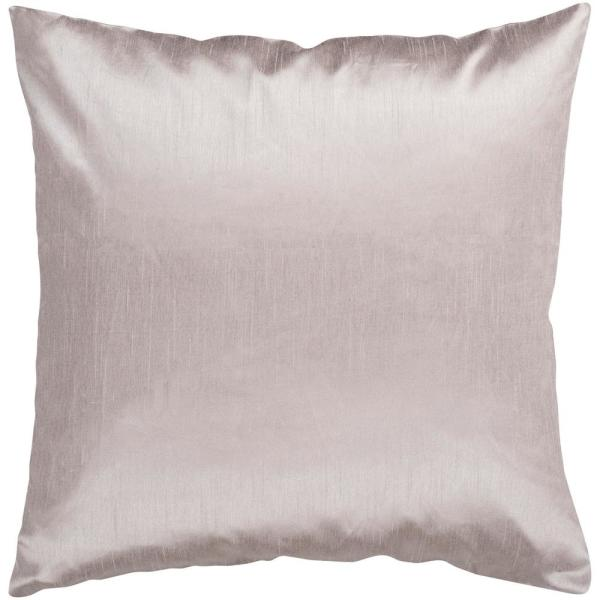 Visoko Taupe Solid Polyester 18 in. x 18 in. Throw Pillow