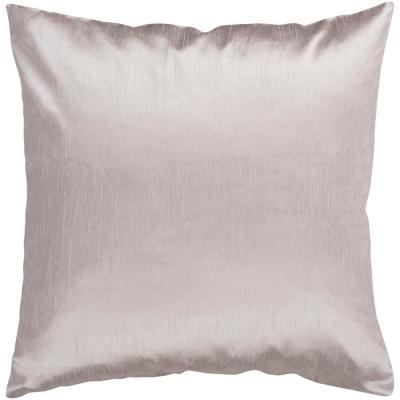 Visoko Taupe Solid Polyester 22 in. x 22 in. Throw Pillow