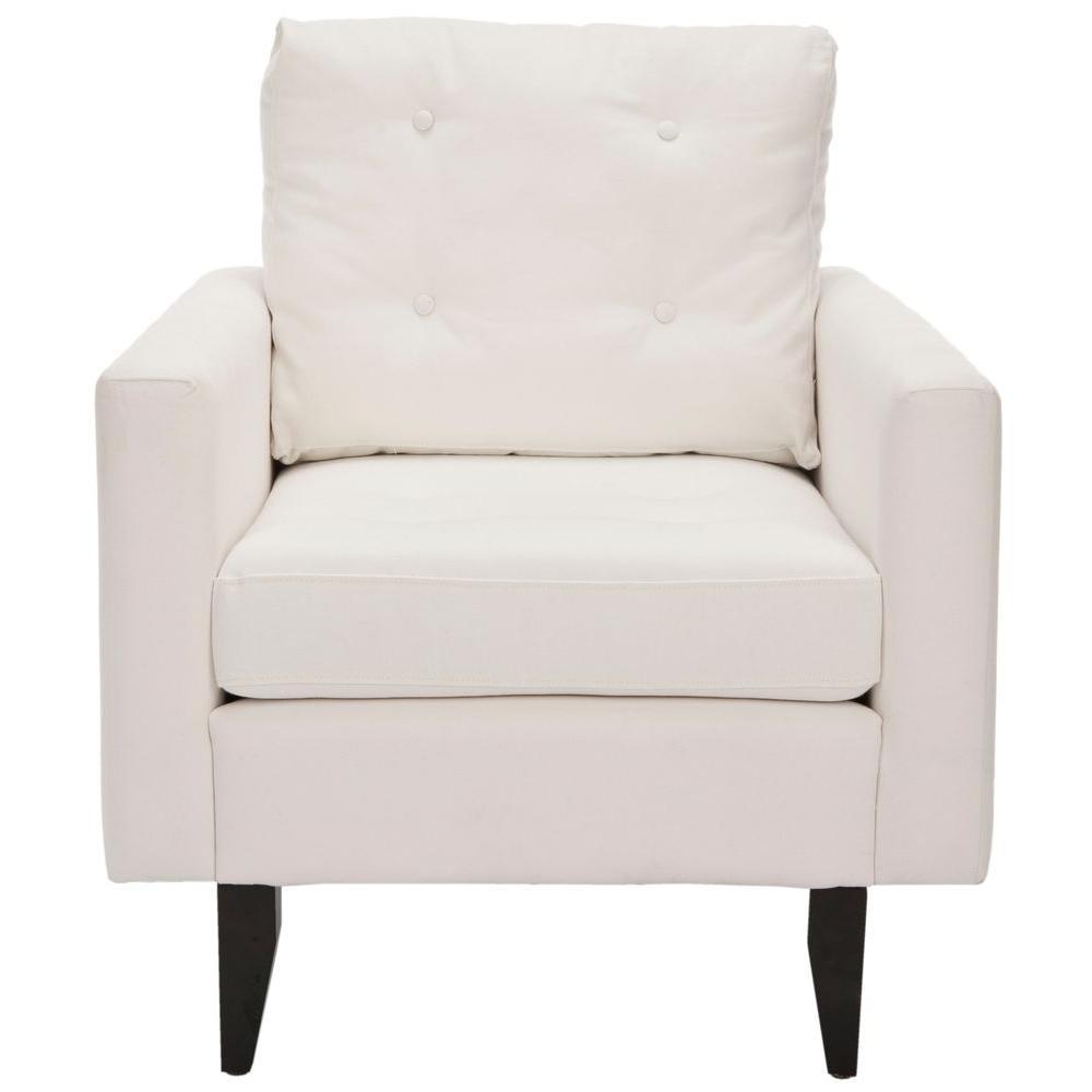 Safavieh Caleb White/Java Cotton Club Arm Chair MCR4569A