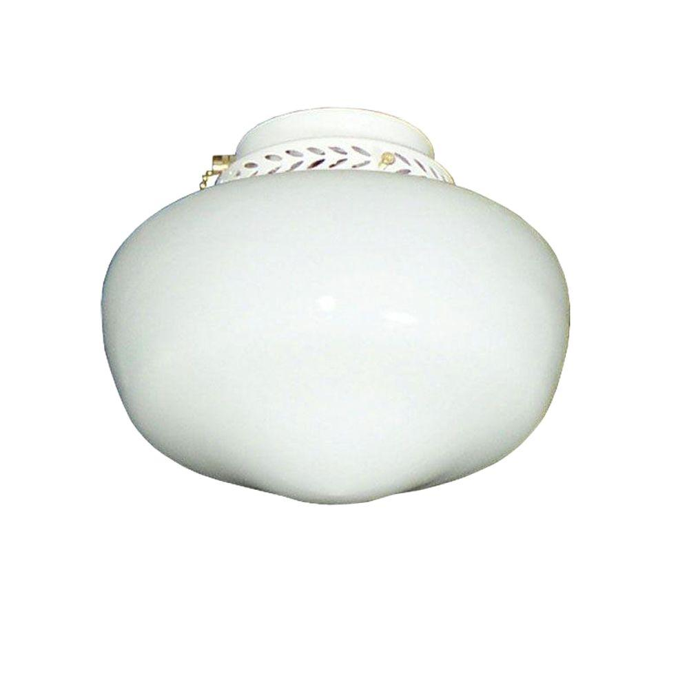 TroposAir 100 Schoolhouse Pure White Ceiling Fan Light