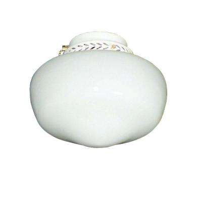 100 Schoolhouse Pure White Ceiling Fan Light