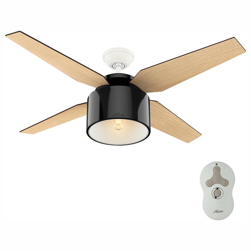 Cranbrook 52 in. LED Indoor Gloss Black Ceiling Fan