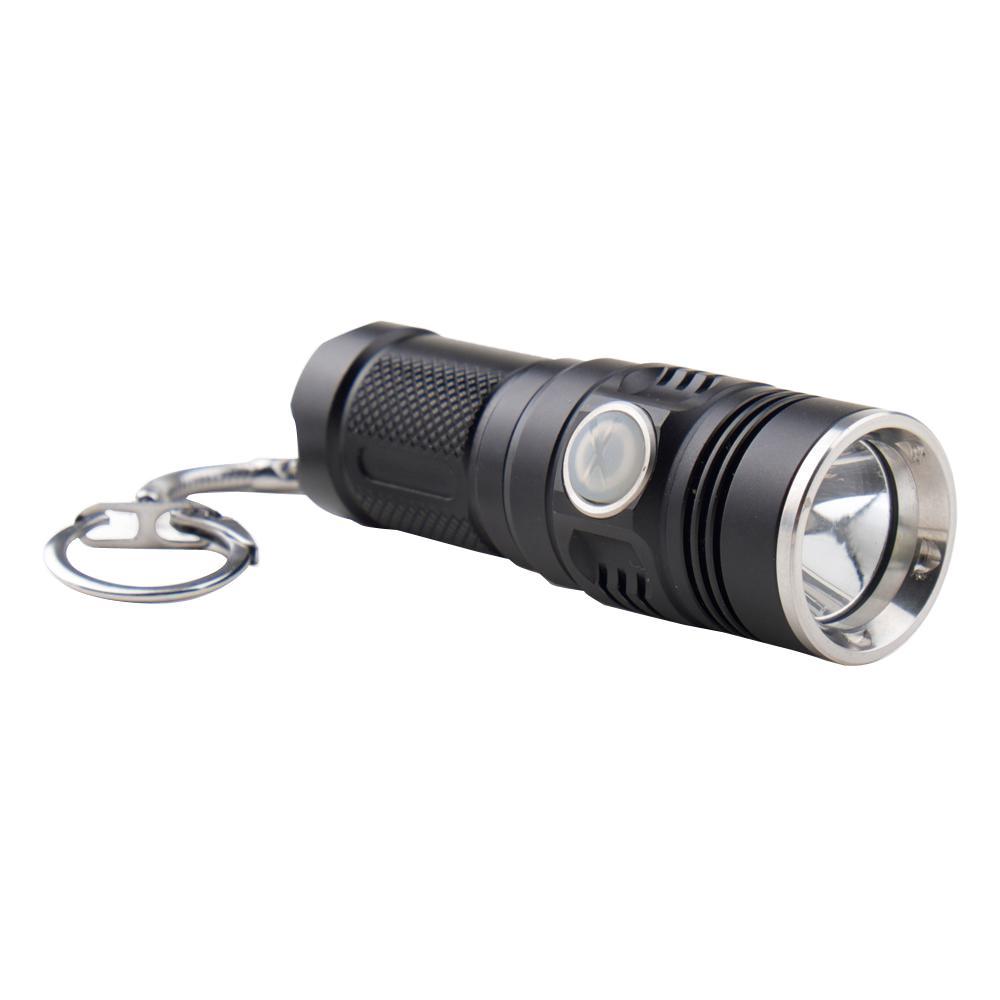 Forte 280-Lumen Key Chain Tactical Flashlight, Black