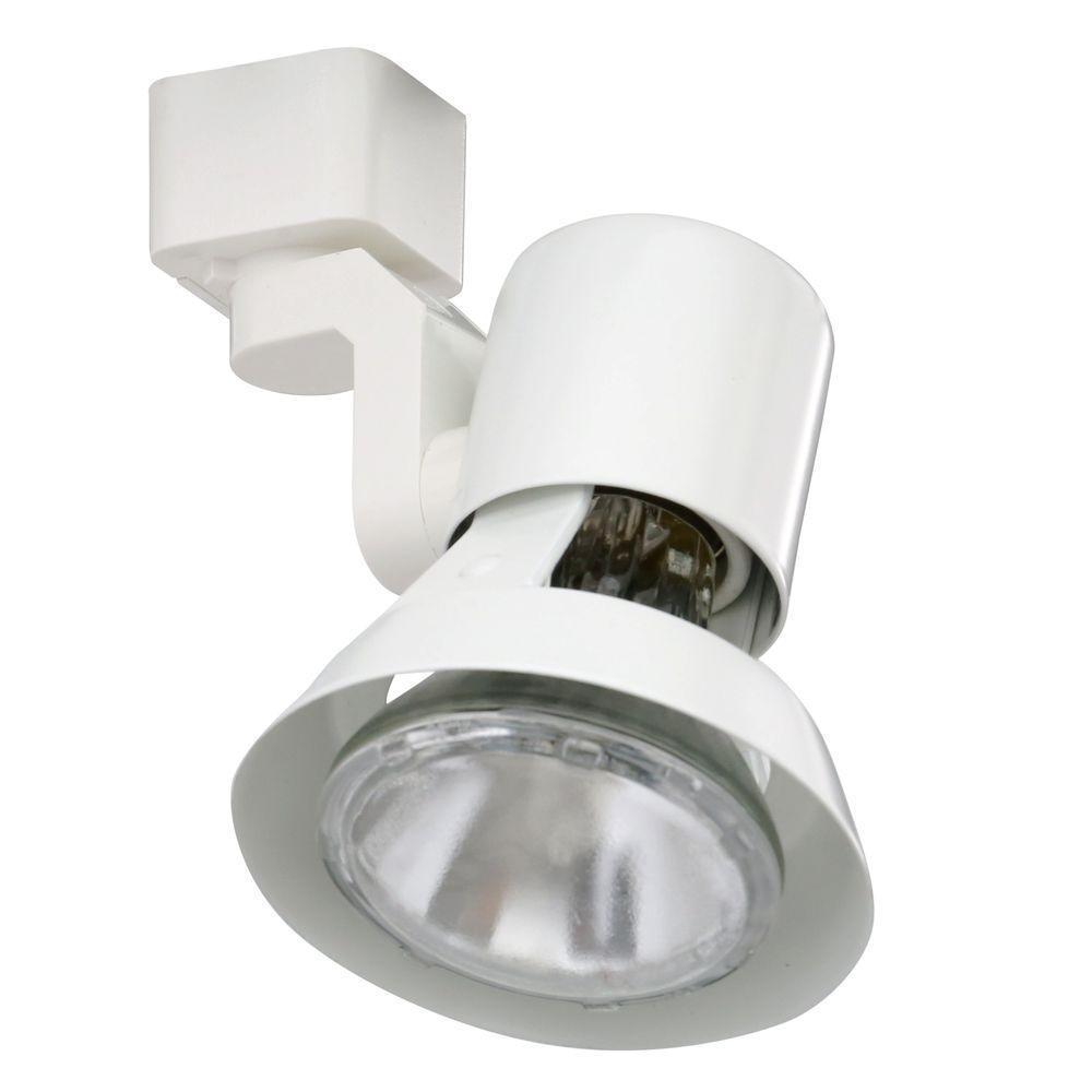 Trac-Lites White Flared-Gimbal Light