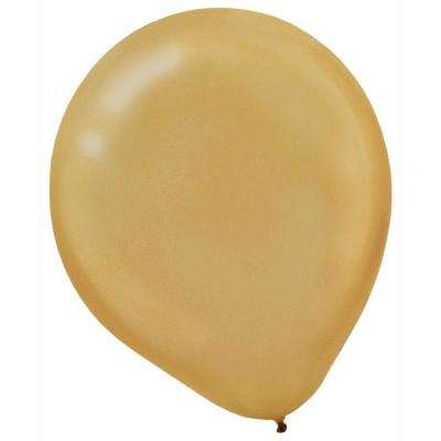 9 in. Gold Pearl Latex Balloons (20-Count,18-Pack)
