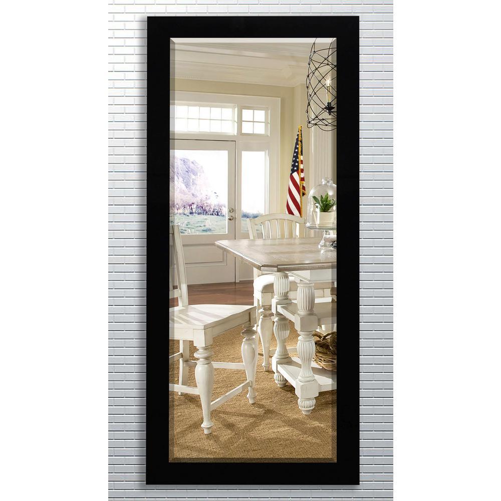 21 5 in x 71 in black over the door full length framed for Black framed floor mirror