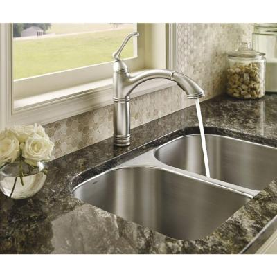Brantford Single-Handle Pull-Out Sprayer Kitchen Faucet with Reflex and Power Clean in Spot Resist Stainless