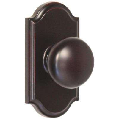 Elegance Oil Rubbed Bronze Premiere Passage Hall/Closet Impresa Door Knob