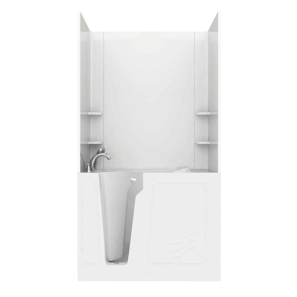 Rampart 4.4 ft. Walk-in Air Bathtub with Easy Up Adhesive Wall