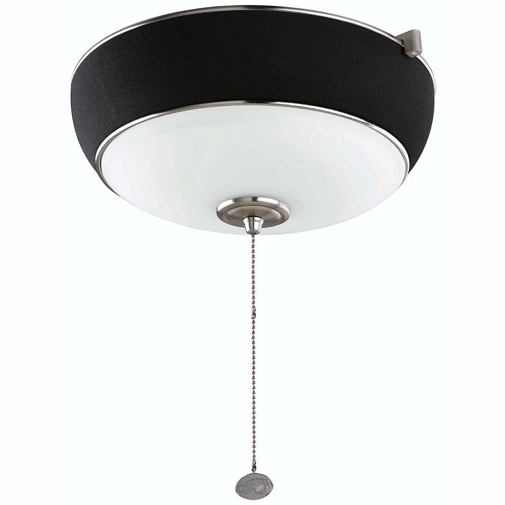 Hampton Bay 3 Light Universal Light Kit: Sea Gull Lighting 3-Light Brushed Nickel Ceiling Fan Light