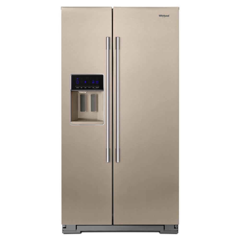 Whirlpool 28 cu  ft  Side by Side Refrigerator in Sunset Bronze